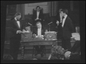 Oxford Union Debate. Image sourced from nzhistory.net.nz.