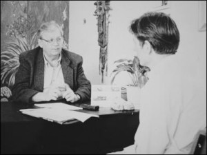 Rt Hon David Lange with Selwyn Manning in 1996. Image by Jason Dorday.