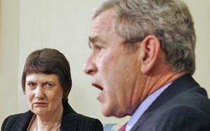 Helen-Clark-and-George-Bush