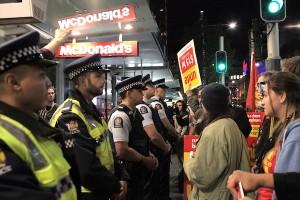 Unite members picket McDonalds. Image courtesy of Unite News.