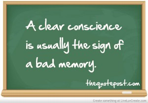 clear conscience bad memory