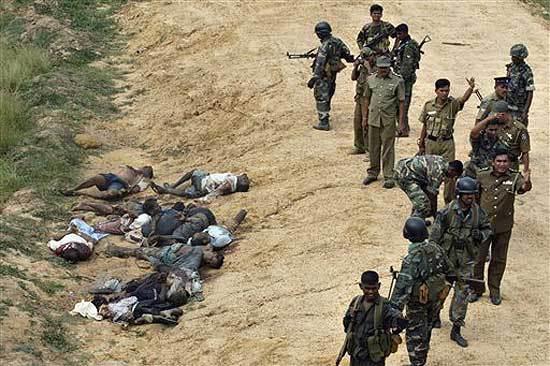 Sri Lankan Army summary executions.