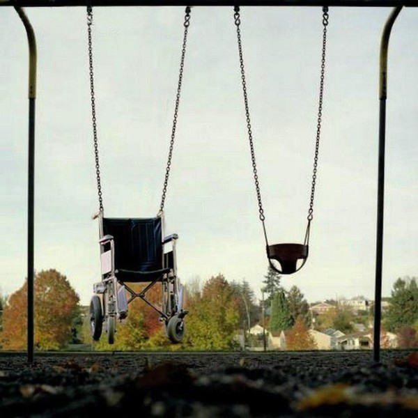 Wheelchair-swing