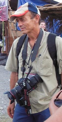 Filmmaker Max Stahl on location in Kraras,  Timor-Leste, 2013. Photo: David Robie