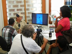 Max Stahl talking to film and media students from  the National University of Timor-Leste.  Photo: David Robie