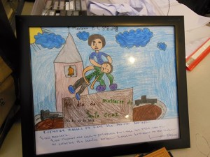 A child's impression of the Santa Cruz massacre ... educating the new generation. Photo: David Robie