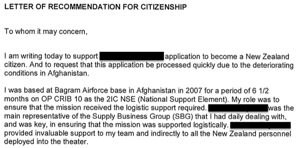 Immigration Letter Of Support - All About Design Letter