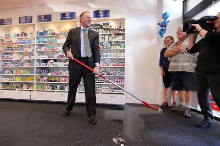 John Key Visits Flood Affected Families In Christchurch
