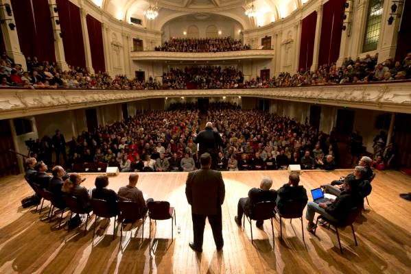 Kim Dotcom In Auckland Town Hall
