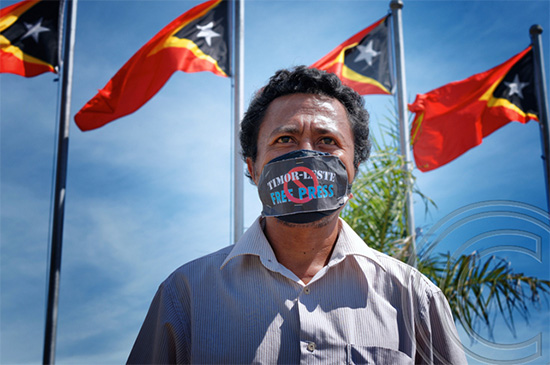 East Timor's José Belo … courageous fight against 'unconstitutional' media law. Image: © Ted McDonnell 2014