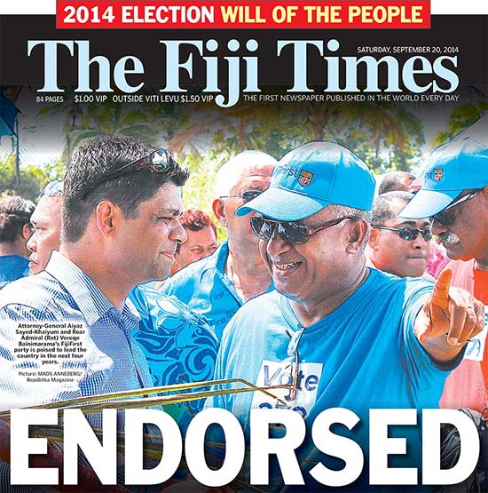 A Fiji Democratic Mandate For The Coup Leader What Now