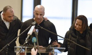 "Malek Merabet, brother of killed Algerian police officer Ahmed, makes emotional plea to ""don't mix up extremists with Muslims"". Image: Independent"