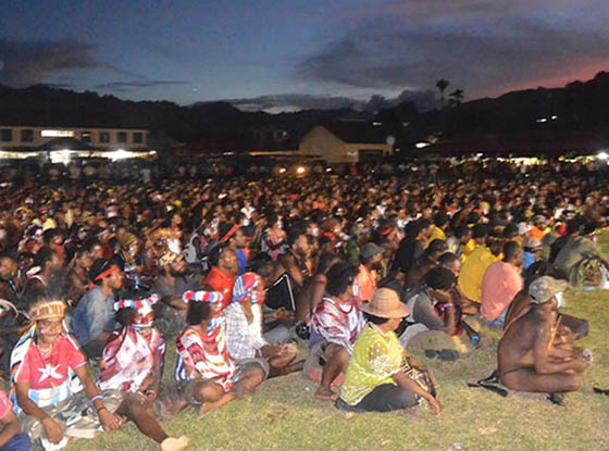 The recent arrests of nearly more than 1600 protesters in West Papua earlier this week are part of a broader systematic oppression of Papuans by the Indonesian government. Pictured are many detained protesters in the Mobile Brigade compound at Photo: Tabloid Jubi