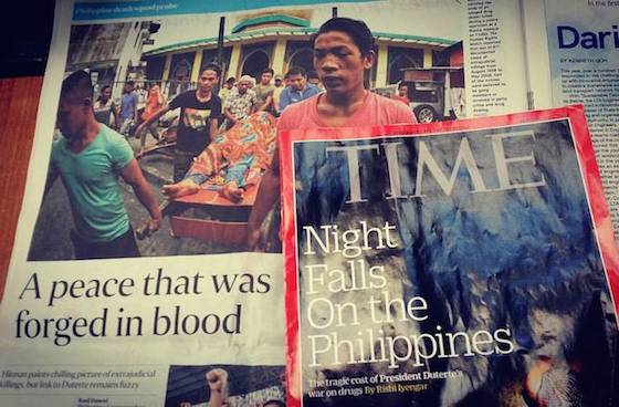 Time magazine and Singapore Sunday Times reports on Philippines 'killing fields'. Photo: David Robie