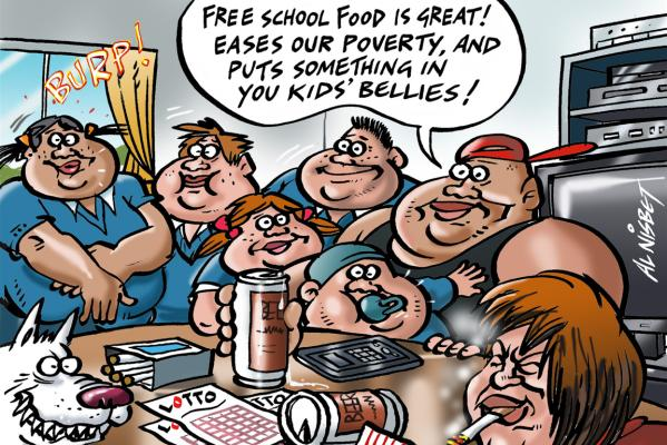 29052013 OPED cartoon, Thursday, May30, Meals in schools poverty
