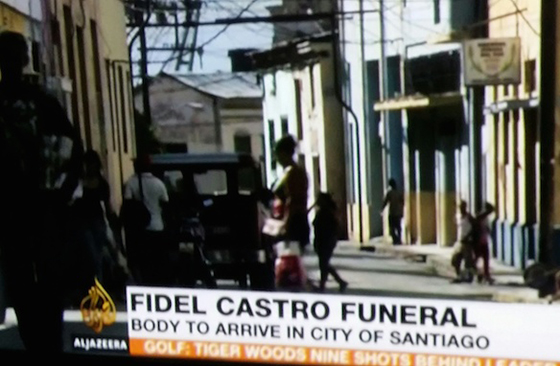 Fidel Castro's ashes are travelling to Santiago where they will be interred tomorrow. Image: David Robie / Al Jazeera