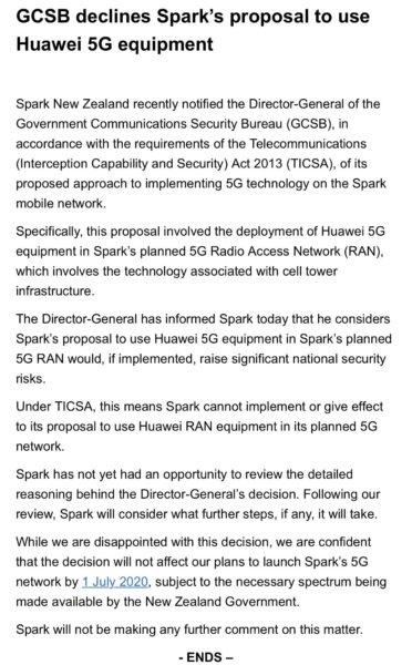 BREAKING: GCSB no to Huawei is the first shot in NZ vs China