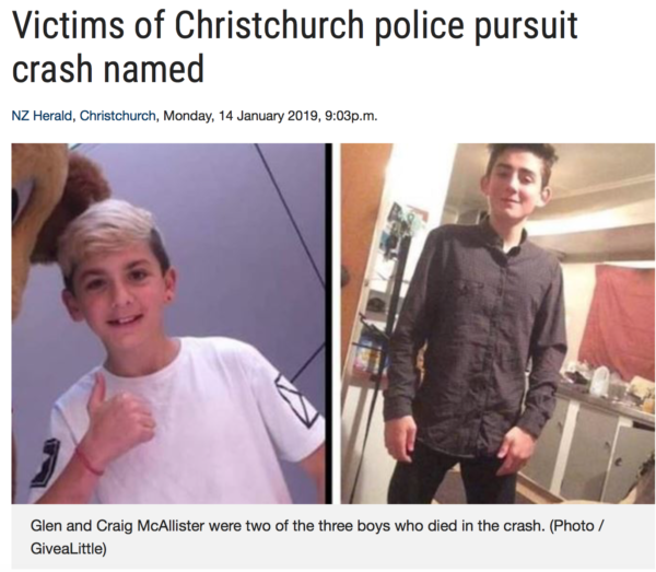 NZ Police chase 3 more kids to their death & our 'respect my