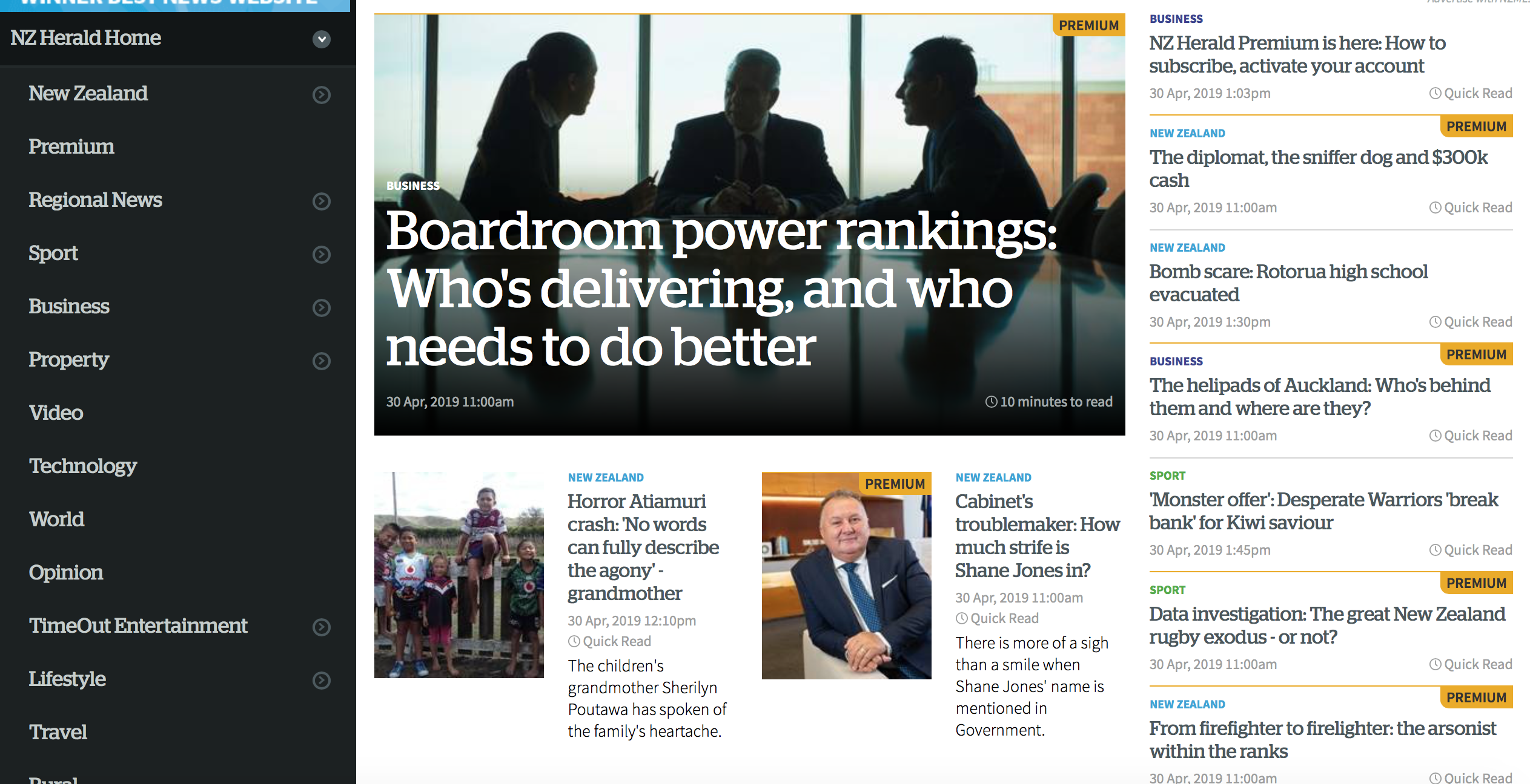 The NZ Herald Paywall is finally here! | The Daily Blog