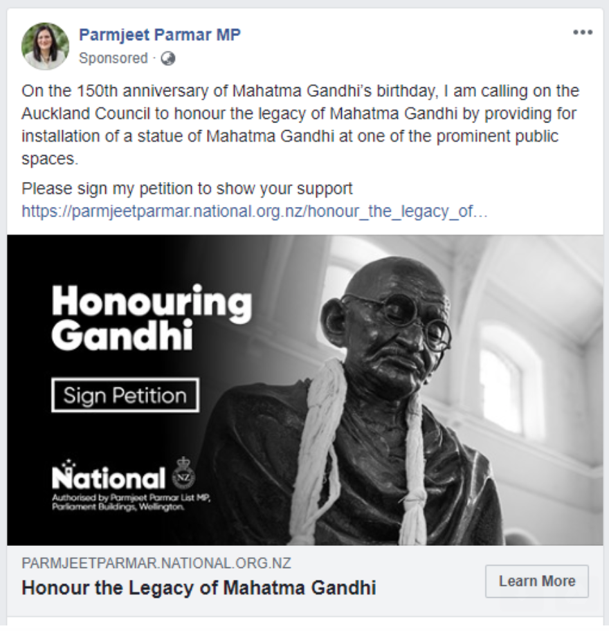 What To Make Of National MP Parmjeet Parmar's Gandhi Statue Proposition | The Daily Blog
