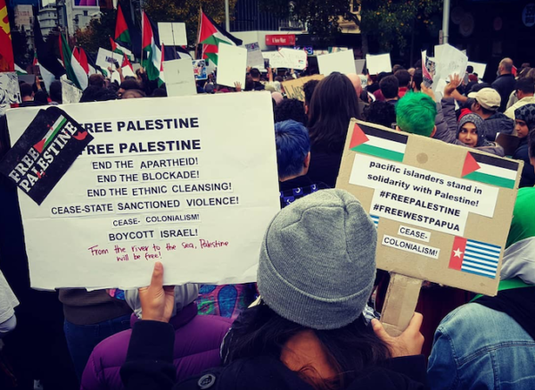 Palestinian march Auckland 2