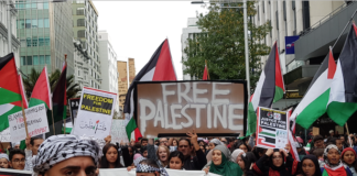 Palestinian march Auckland 1