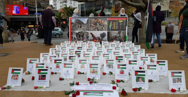 Palestinian march Auckland 3